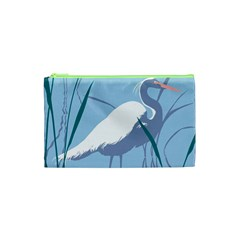 Egret Cosmetic Bag (xs) by WaltCurleeArt