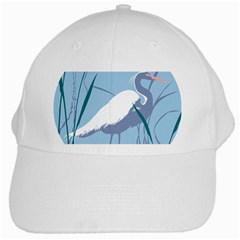 Egret White Cap by WaltCurleeArt
