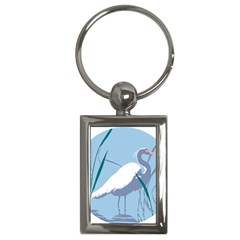 Egret Key Chains (rectangle)  by WaltCurleeArt