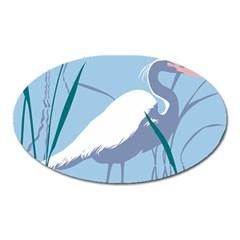 Egret Oval Magnet by WaltCurleeArt