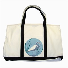 Egret Two Tone Tote Bag by WaltCurleeArt