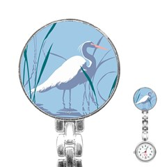 Egret Stainless Steel Nurses Watch by WaltCurleeArt