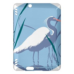 Egret Kindle Fire Hdx Hardshell Case by WaltCurleeArt