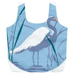 Egret Full Print Recycle Bags (l)  by WaltCurleeArt