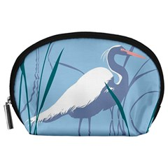 Egret Accessory Pouches (large)  by WaltCurleeArt