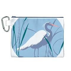 Egret Canvas Cosmetic Bag (xl)  by WaltCurleeArt
