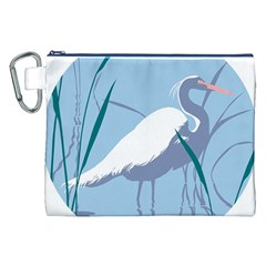Egret Canvas Cosmetic Bag (xxl)  by WaltCurleeArt