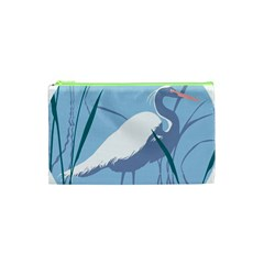 Egret Cosmetic Bag (xs) by WaltCurleeArt