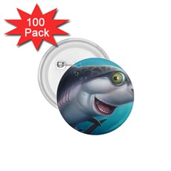 Sharky 1 75  Buttons (100 Pack)  by WaltCurleeArt