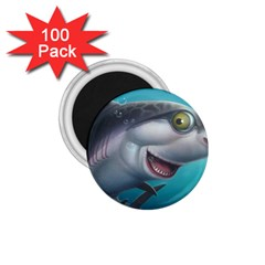 Sharky 1 75  Magnets (100 Pack)  by WaltCurleeArt