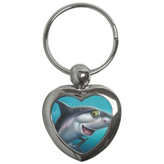 Sharky Key Chains (heart)  by WaltCurleeArt