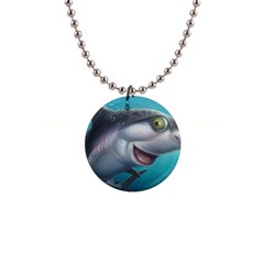 Sharky Button Necklaces by WaltCurleeArt