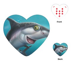 Sharky Playing Cards (heart)  by WaltCurleeArt