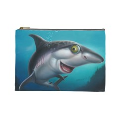 Sharky Cosmetic Bag (large)  by WaltCurleeArt