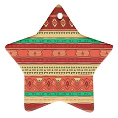 Hand Drawn Ethnic Shapes Pattern Ornament (star)