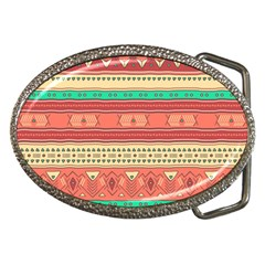 Hand Drawn Ethnic Shapes Pattern Belt Buckles by TastefulDesigns