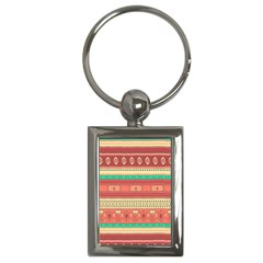 Hand Drawn Ethnic Shapes Pattern Key Chains (rectangle)