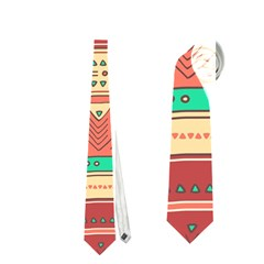 Hand Drawn Ethnic Shapes Pattern Neckties (two Side)  by TastefulDesigns