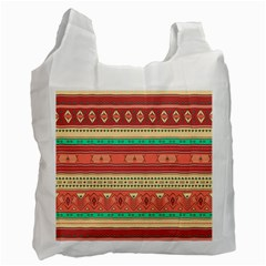 Hand Drawn Ethnic Shapes Pattern Recycle Bag (two Side)