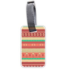 Hand Drawn Ethnic Shapes Pattern Luggage Tags (two Sides)