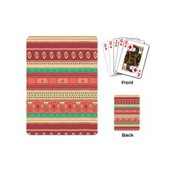 Hand Drawn Ethnic Shapes Pattern Playing Cards (mini)