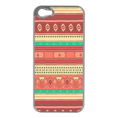 Hand Drawn Ethnic Shapes Pattern Apple Iphone 5 Case (silver) by TastefulDesigns