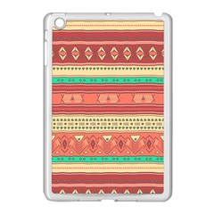 Hand Drawn Ethnic Shapes Pattern Apple Ipad Mini Case (white) by TastefulDesigns