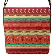 Hand Drawn Ethnic Shapes Pattern Flap Messenger Bag (s)