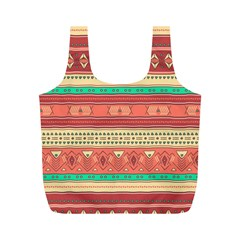 Hand Drawn Ethnic Shapes Pattern Full Print Recycle Bags (m)