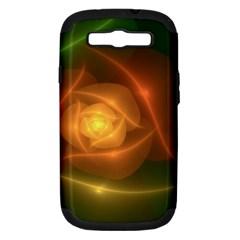 Orange Rose Samsung Galaxy S Iii Hardshell Case (pc+silicone) by Delasel