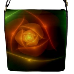 Orange Rose Flap Messenger Bag (s) by Delasel