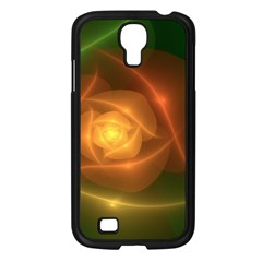 Orange Rose Samsung Galaxy S4 I9500/ I9505 Case (black) by Delasel