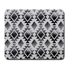 Hand Painted Black Ethnic Pattern Large Mousepads by TastefulDesigns