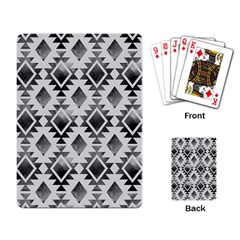 Hand Painted Black Ethnic Pattern Playing Card by TastefulDesigns