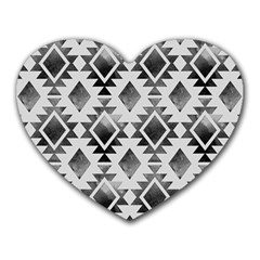 Hand Painted Black Ethnic Pattern Heart Mousepads by TastefulDesigns