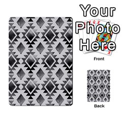 Hand Painted Black Ethnic Pattern Multi Purpose Cards (rectangle)  by TastefulDesigns