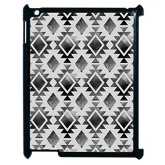 Hand Painted Black Ethnic Pattern Apple Ipad 2 Case (black) by TastefulDesigns