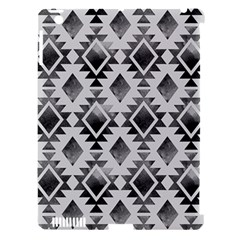 Hand Painted Black Ethnic Pattern Apple Ipad 3/4 Hardshell Case (compatible With Smart Cover) by TastefulDesigns