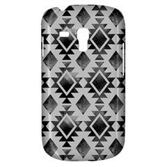 Hand Painted Black Ethnic Pattern Samsung Galaxy S3 Mini I8190 Hardshell Case by TastefulDesigns