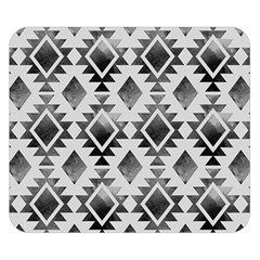 Hand Painted Black Ethnic Pattern Double Sided Flano Blanket (small)  by TastefulDesigns