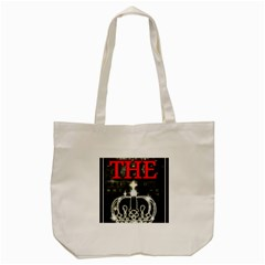 The King Tote Bag (cream) by SugaPlumsEmporium
