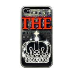 The King Apple Iphone 4 Case (clear) by SugaPlumsEmporium