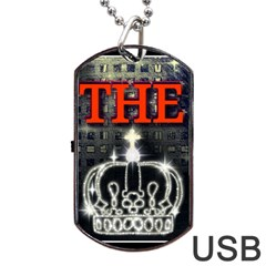 The King Dog Tag Usb Flash (two Sides)  by SugaPlumsEmporium