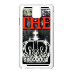 The King Samsung Galaxy Note 3 N9005 Case (white) by SugaPlumsEmporium