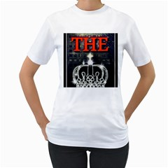 The King Women s T-Shirt (White)  by SugaPlumsEmporium