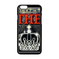 The King Apple Iphone 6/6s Black Enamel Case by SugaPlumsEmporium