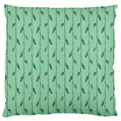 Seamless Lines And Feathers Pattern Large Cushion Case (one Side) by TastefulDesigns