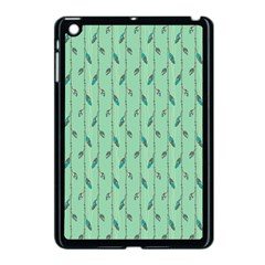 Seamless Lines And Feathers Pattern Apple Ipad Mini Case (black) by TastefulDesigns