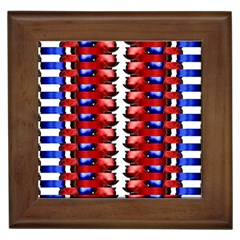 The Patriotic Flag Framed Tiles by SugaPlumsEmporium