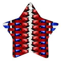 The Patriotic Flag Ornament (star)  by SugaPlumsEmporium